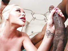 Huge black cock for her tight pussy