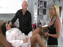 hardcore, milf, tattoo, squirting, threesome, bigtits, pussylicking, pussyfucking