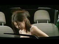 Aya having sex in the backseat of a car
