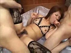 stockings, threesome, asian, mmf