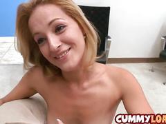 Sexy latina swallows some big dick