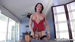 masturbation, big tits, big cock, shemale, solo, tranny