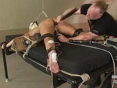 anal, dildo, blonde, gag, bdsm, bondage, gagged, pain, abused, hook