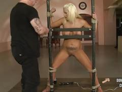Blonde jess abused and anal hooked