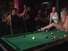 blonde, bdsm, babe, public nudity, public, big cock, blowjob, billiard table, public humiliation, public disgrace, kink, tina kay, steve holmes, antonio ross, yunno x