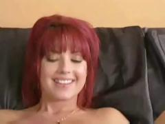 Hot redhead gives wild blowjob