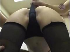Asian girl toyed