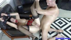 Rich brit mature spoils soldier with her ass hole