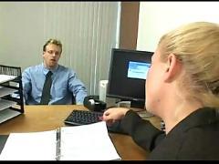 Blonde slut heidi mayne gets fucked in the office