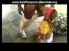 Brazilian outdoor blowjob