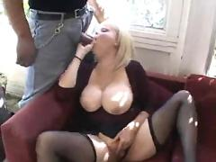 Big blonde gets dp