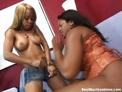 Hot black lesbian sex action