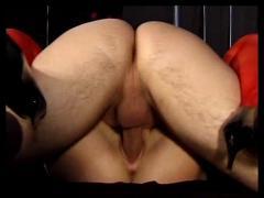 British blonde erica fucked in red stockings.