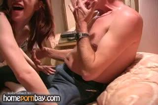 My sexy redhead wife sucking my dick 1