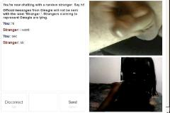 Omegle chat & cum
