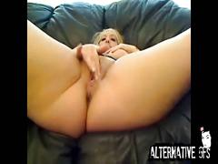 Rubbing and toying pussy
