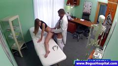 Faux doctor fucks patient doggystyle
