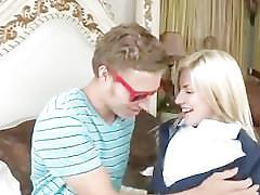 Super hot michael vegas hot kissing! best ffm step-mother says!