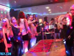 Party teens blowing dick