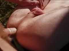 Hardcore anal attack outdoors with cum crazy studs