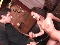 Kristina rose frames her hairy pussy