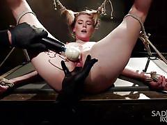 babe, torture, slave, humiliation, vibrator, screaming, tied up, rope bondage, sadistic rope, kink, mona wales