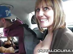 Puta locura busty mature latina fucked in fake taxi