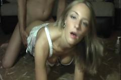 Nice blonde gets fucked by boyfriend at home