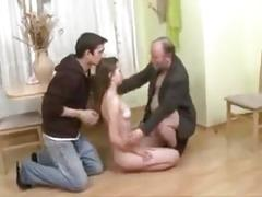 Stp3 son arrives to find his dad fucking his girlfriend !
