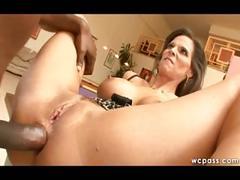 Milf anal fucks black poolboy