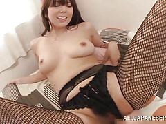 Yui gives amazing blowjob