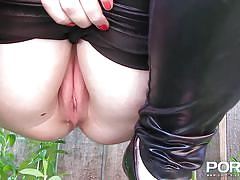 pissing, big ass, babe, redhead, high heels, outdoor, public, busty, porn xn, jay rose