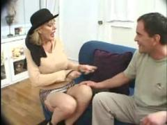 Busty mature woman's gangbang...f70