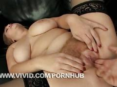 A sexy redheaded bbw gets fucked hard