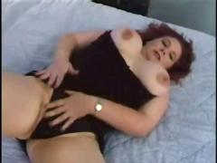 Chubby bbw redhead gets her tits and pussy fucked