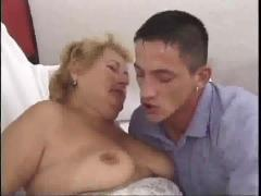 Dirty granny seduced a young stud by troc