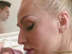 Dane jones big boobs blonde milf takes big package from stud