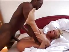 Amateur - hot blond bbc anal threesome with cim facial