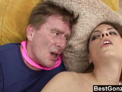 Young slut fucks not her stepdaddy before the party