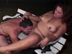 Bbw fucking in the park