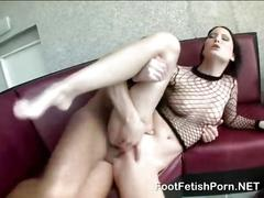 She is a skinny babe riding on a dick