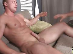 Fine gay ass drilled by uncut big dick
