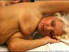 Mature woman getting painfully fucked