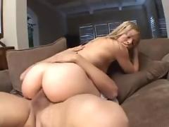 Sexy blonde teke cum in mouth & swallow