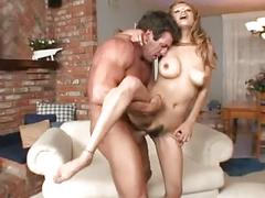 Big tits hot wet pussy blonde gets stuffed cock in her mouth