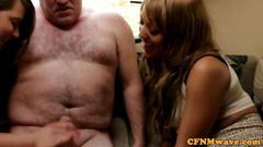 Cfnm cougars toying with dudes dick