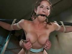 Tied up bitch orgasm