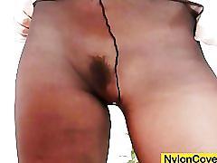 fetish, nylons, pantyhose, masturbation, dildokink, kinky