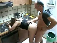 Lucky plumber fuck mother & daughter