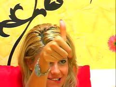 Nice blonde masturbating